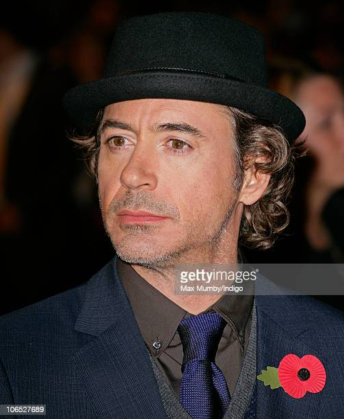 Robert Downey Jr attends the 'Due Date' Premiere at The Empire Cinema Leicester Square on November 3 2010 in London England