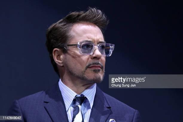 Robert Downey Jr. Attends the fan event for Marvel Studios' 'Avengers: Endgame' South Korea premiere on April 15, 2019 in Seoul, South Korea.