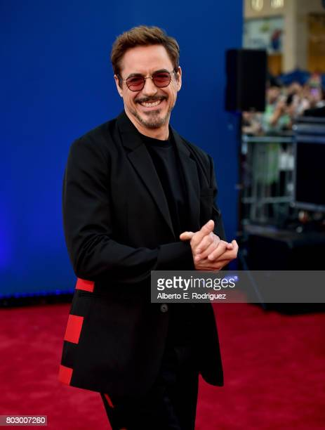"Robert Downey Jr. Attends the premiere of Columbia Pictures' ""Spider-Man: Homecoming"" at TCL Chinese Theatre on June 28, 2017 in Hollywood,..."