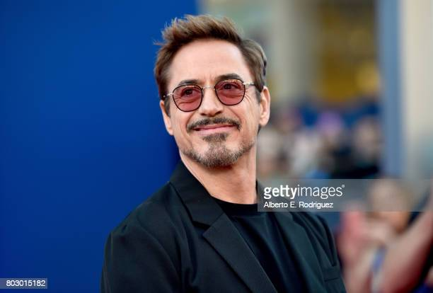 Robert Downey Jr attends the premiere of Columbia Pictures' SpiderMan Homecoming at TCL Chinese Theatre on June 28 2017 in Hollywood California