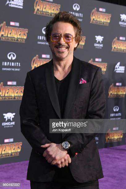 Robert Downey Jr attends the premiere of Disney and Marvel's 'Avengers Infinity War' on April 23 2018 in Los Angeles California