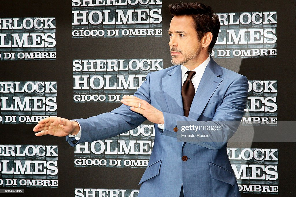 Robert Downey Jr attends the ' Sherlock Holmes: A Game Of Shadows' photocall at Hotel Hassler on December 11, 2011 in Rome, Italy.