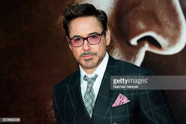 Robert Downey Jr. Attends the 'The First Avenger: Civil War' Berlin Premiere at Sony Centre on April 21, 2016 in Berlin, Germany.