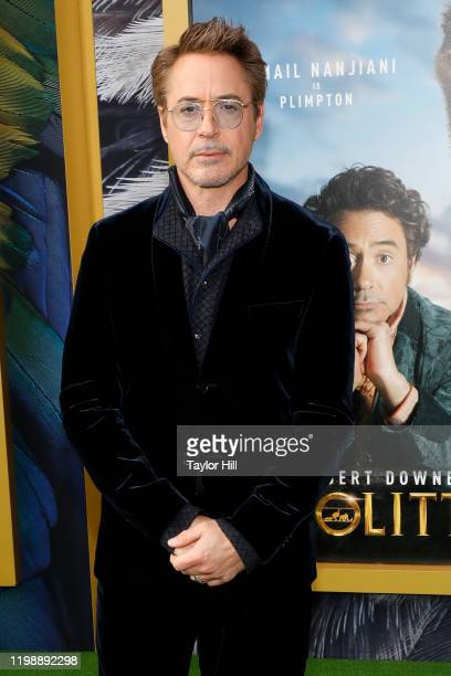 "Robert Downey Jr. Attends the world premiere of ""Dolittle"" at Regency Village Theatre on January 11, 2020 in Westwood, California."