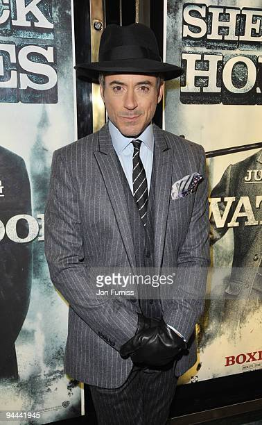 Robert Downey Jr attends the World Premiere of 'Sherlock Holmes' at Empire Leicester Square on December 14, 2009 in London, England.