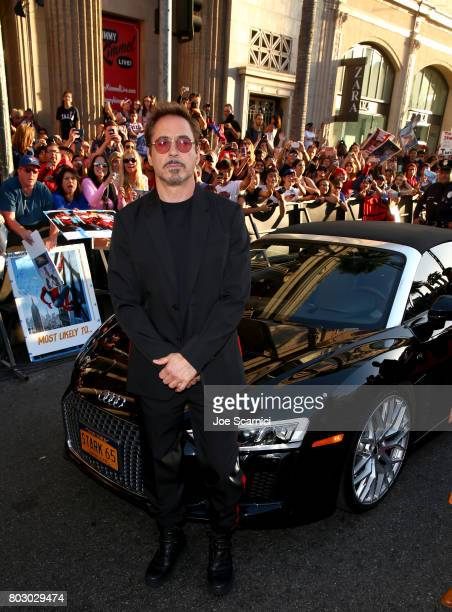 Robert Downey Jr attends the World Premiere of 'SpiderMan Homecoming' hosted by Audi at TCL Chinese Theatre on June 28 2017 in Hollywood California