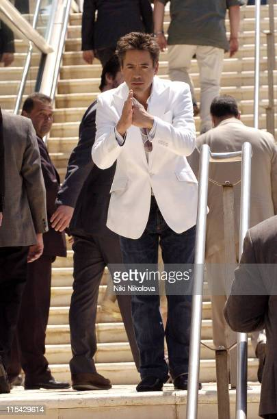 Robert Downey Jr during 2006 Cannes Film Festival Seen Around Cannes Day 10 at Cannes in Cannes France