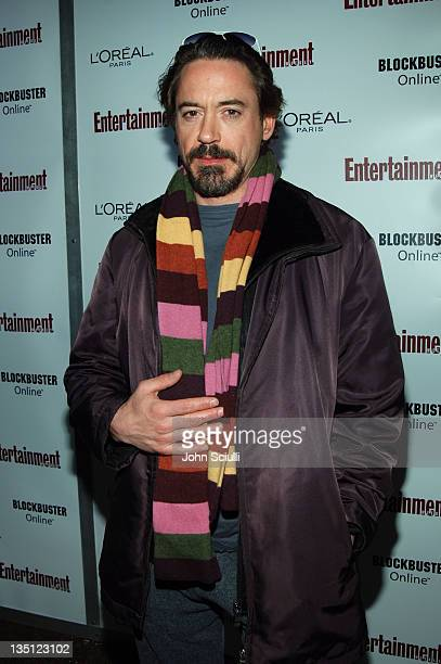 Robert Downey Jr during 2006 Sundance Film Festival Entertainment Weekly Sundance Opening Weekend Party Red Carpet at The Shop in Park City Utah...