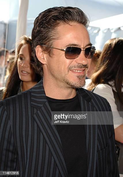 Robert Downey Jr during 2007 Film Independent's Spirit Awards Backstage at Santa Monica Pier in Santa Monica California United States