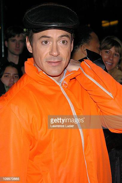 Robert Downey Jr during Nicole Richie and Robert Downey Jr Arrive at The Late Show with David Letterman January 20 2005 at Ed Sullivan Theater in New...