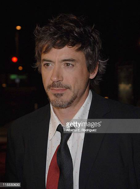 Robert Downey Jr during Zodiac Los Angeles Premiere Arrivals at Paramount Studios in Hollywood California United States