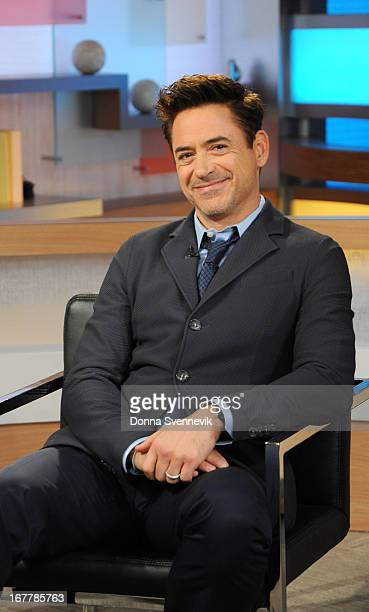 AMERICA Robert Downey Jr is a guest on Good Morning America 4/29/13 airing on the ABC Television Network on the ABC Television Network ROBERT