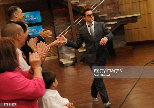 MICHAEL 4/30/13 Robert Downey Jr is a guest on LIVE with Kelly and Michael distributed by DisneyWalt Disney Television via Getty Images Domestic...
