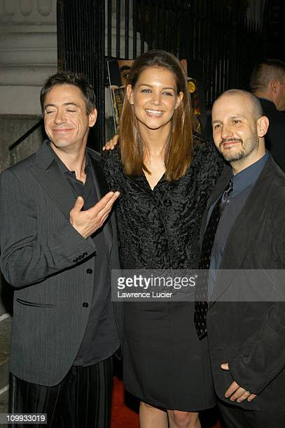 Robert Downey Jr Katie Holmes and Keith Gordon during The Singing Detective New York Premiere Arrivals and After Party at Loews Village Village in...