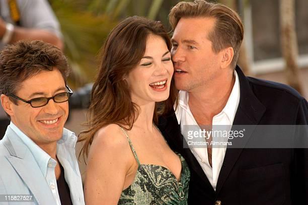 Robert Downey Jr Michelle Monaghan and Val Kilmer