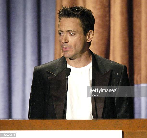 Robert Downey Jr presenting the award for Producer of the Year