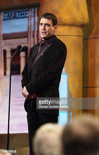 Robert Downey Jr presents during The 17th Annual American Cinematheque Award Honoring Denzel Washington Show and Backstage at Beverly Hilton Hotel in...