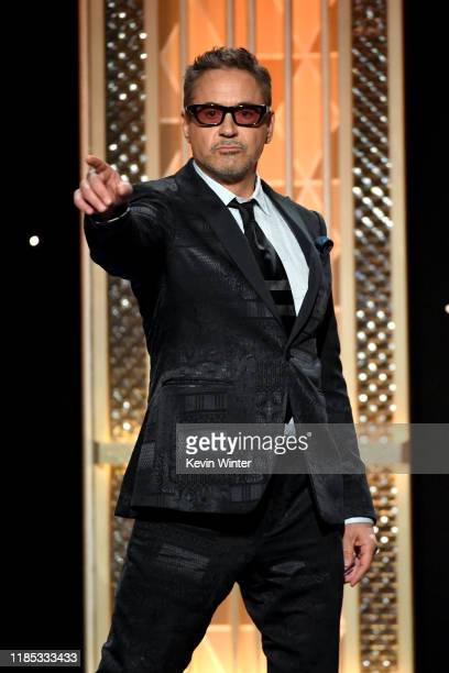Robert Downey Jr. Presents the Hollywood Breakthrough Screenwriter Award onstage during the 23rd Annual Hollywood Film Awards at The Beverly Hilton...