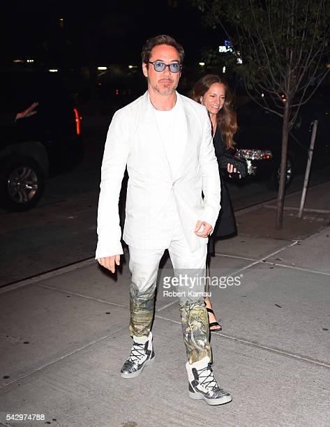 Robert Downey Jr seen in Tribeca on June 24 2016 in New York City