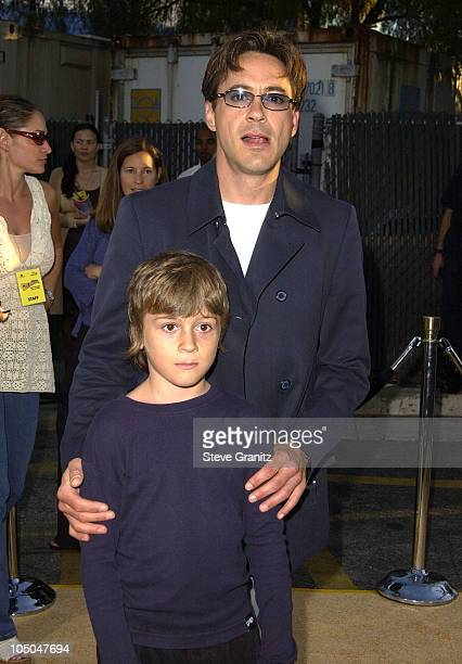 Robert Downey Jr son Indio during 'Austin Powers In Goldmember' Premiere at Universal Amphitheatre in Universal City California United States