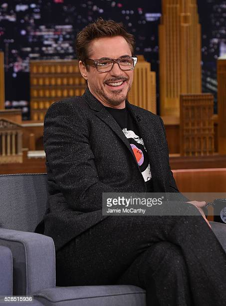 Robert Downey Jr visits 'The Tonight Show Starring Jimmy Fallon' at Rockefeller Center on May 5 2016 in New York City