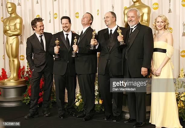 "Robert Downey Jr., winners for Beset Achievement in Visual Effects for ""Pirates of the Caribbean: Dead Man's Chest,"" John Knoll, Hal Hickel, Charles..."