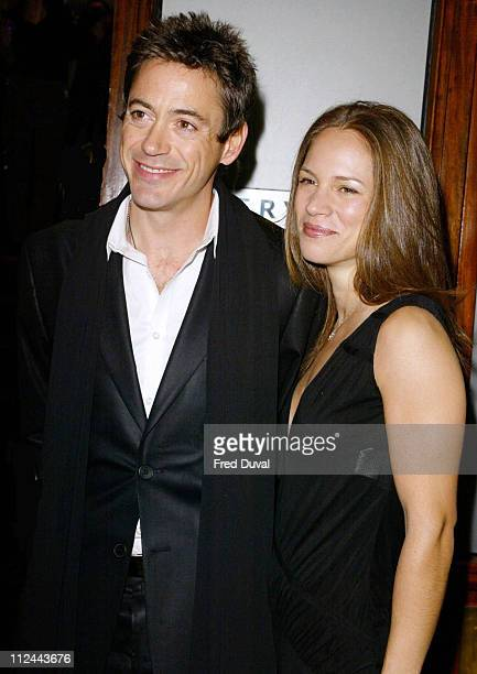 """Robert Downey Jr. With his girlfriend Susan Levin during """"Singing Detective"""" Screening and Release at Everyman Cinema in Hampstead, London, United..."""