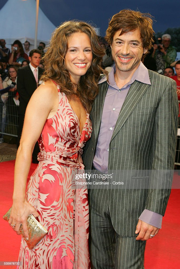 Robert Downey Jr with his wife Susan arrive at the premiere of 'Kiss Kiss Bang Bang' during the 31st American Deauville Film Festival.