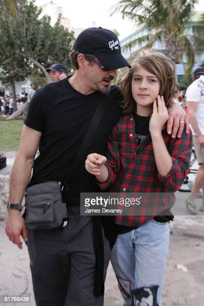 Robert Downey Jr with son