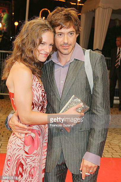 Robert Downey Jrand his wife Suzan arrive for the Premiere of Kiss Kiss Bang Bang at the 31st Deauville Festival Of American Film on September 4 2005...