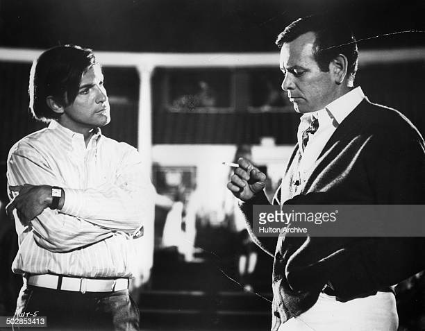 Robert Drivas has a discussion with his father David Janssen in a scene for the United Artist movie Where It's At circa 1968