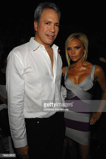 Robert Duffy and Victoria Beckham at Marc Jacobs Spring 2008 during MercedesBenz Fashion Week at the New York State Armory on September 10 2007 in...