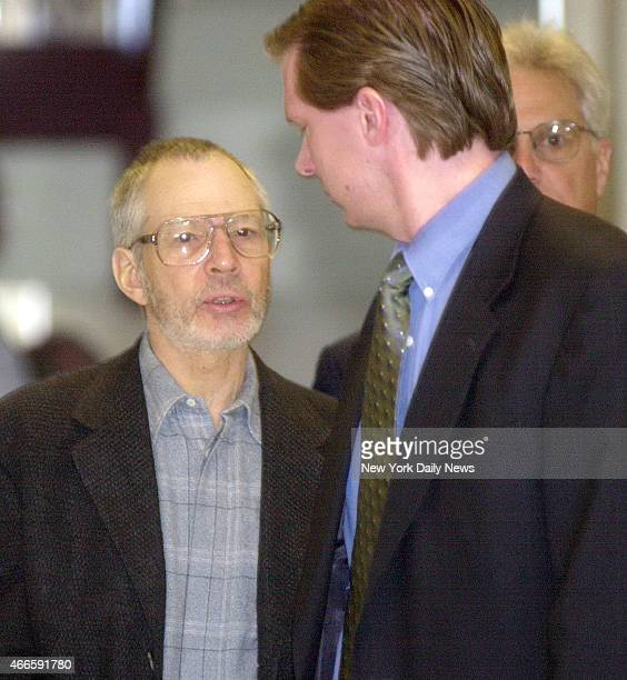Robert Durst is escorted through the Northampton court house in Easton Penn Durst is a suspect in his wife's disappearance 19 years ago and is wanted...