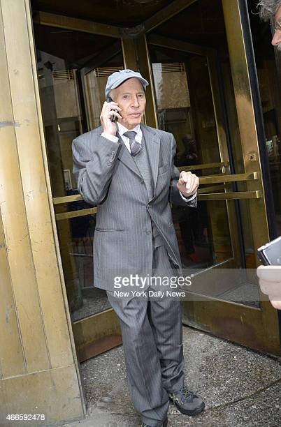 Robert Durst leaves Manhattan Criminal Court on Wednesday December 10 2014 Durst is charged with trespassing on his brother's property and stalking...