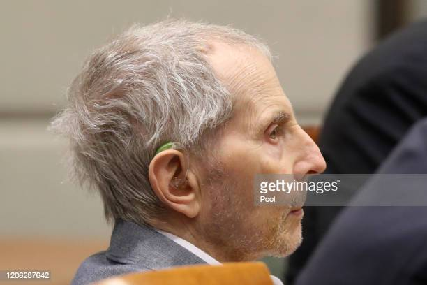 Robert Durst sits for opening statements in his murder trial on March 9 2020 in Los Angeles California Millionaire Robert Durst is accused of...