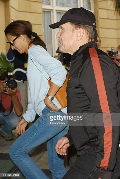 Robert Duvall and his Wife Luciana Pedraza during 2003 San Sebastian Film Festival Arrivals at Maria Cristina Hotel in San Sebastian Spain