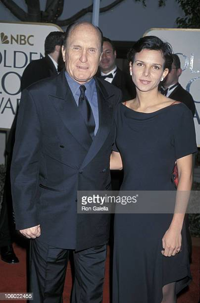 Robert Duvall and Luciana Pedraza during 56th Annual Golden Globe Awards at Beverly Hilton Hotel in Beverly Hills California United States