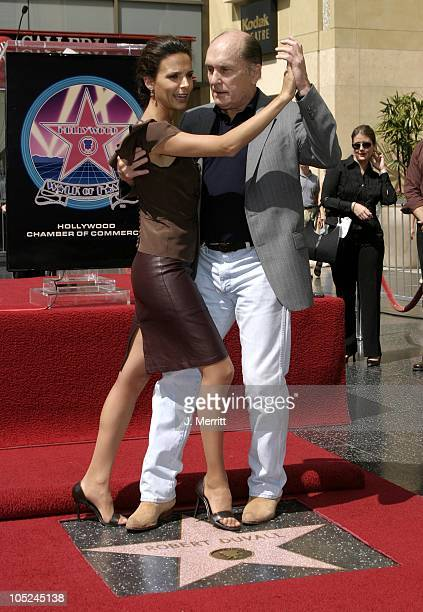 Robert Duvall and Luciana Pedraza during Robert Duvall is Honored With a Star on Hollywood's Walk of Fame at The Hollywood Walk Of Fame in Hollywood...