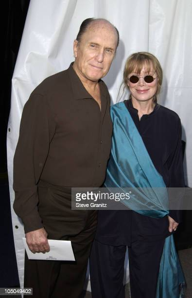Robert Duvall and Sissy Spacek during The 18th Annual IFP Independent Spirit Awards Backstage at Santa Monica Beach in Santa Monica California United...