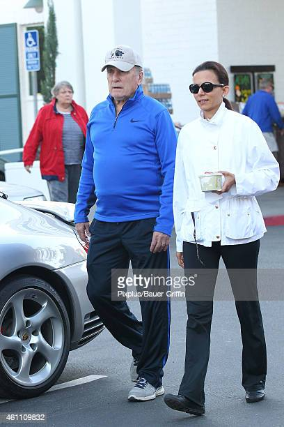 Robert Duvall and wife Luciana Pedraza are seen on January 06 2015 in Los Angeles California