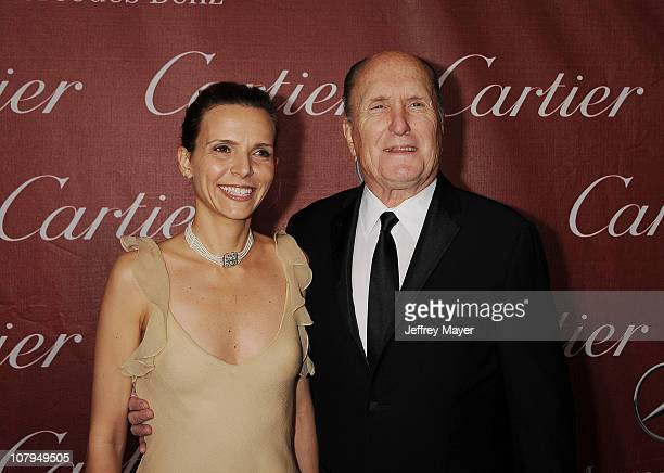 Robert Duvall and wife Luciana Pedraza attend the 22nd Annual Palm Springs International Film Festival Awards Gala at Palm Springs Convention Center...