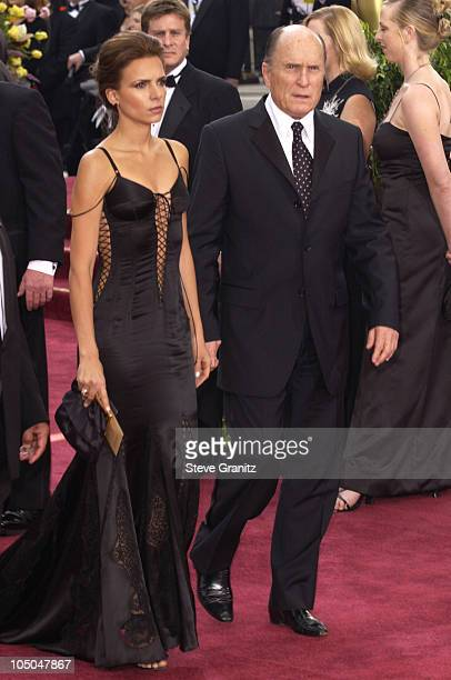 Robert Duvall and Wife Luciana Pedraza during The 75th Annual Academy Awards Arrivals at The Kodak Theater in Hollywood California United States