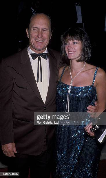 Robert Duvall and wife Sharon Brophy attend 41st Annual Primetime Emmy Awards on September 17 1989 at the Pasadena Civic Auditorium in Pasadena...