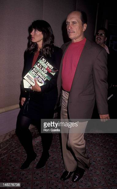 Robert Duvall and wife Sharon Brophy attend Holyfield vs Foreman Boxing Match on April 19 1991 at the Trump Plaza Hotel in Atlantic City New Jersey