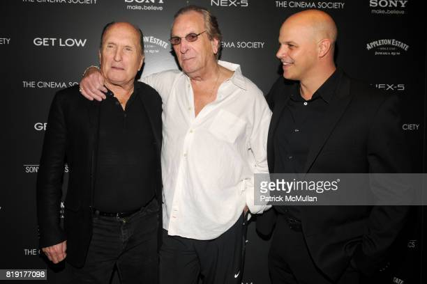 Robert Duvall Danny Aiello and Joey Rappa attend THE CINEMA SOCIETY SONY ALPHA NEX host a screening of GET LOW at Tribeca Grand Hotel on July 21 2010...
