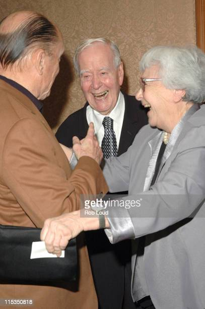 Robert Duvall, Horton Foote and Harper Lee during Signature Theatre Company Honors Horton Foote on His 90th Birthday at The Ritz-Carlton in New York,...