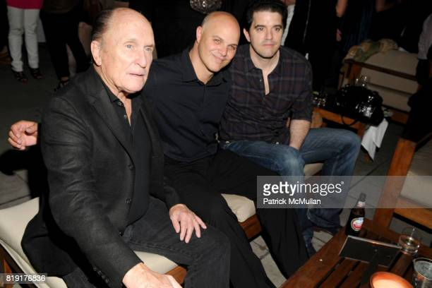 Robert Duvall Joey Rappa and Aaron Schneider attend THE CINEMA SOCIETY SONY ALPHA NEX host the after party for GET LOW at Soho Grand Hotel on July 21...