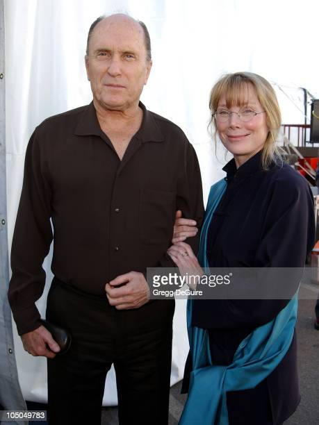 Robert Duvall Sissy Spacek during The 18th Annual IFP Independent Spirit Awards Backstage at Santa Monica Beach in Santa Monica California United...