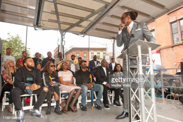 Robert E. Cornegy jr attends the Notorious B.I.G. Street Naming in Brooklyn New York on June 10, 2019 in Brooklyn, New York. On June 10, 2019 in...