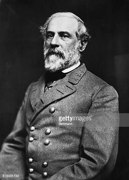 Robert E Lee CommanderinChief of the Confederate armies during the Civil War Undated head and shoulders photograph